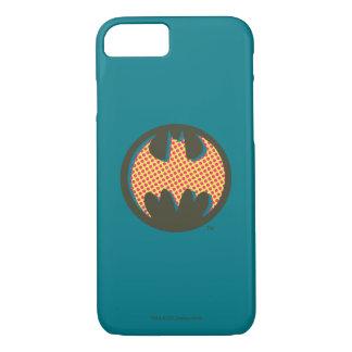 Coque iPhone 7 Logo tramé rouge du symbole | de Batman