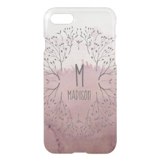Coque iPhone 7 L'or de rose de rose rougissent motif de luxe