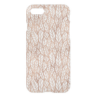 Coque iPhone 7 L'or rose part du motif transparent