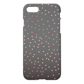Coque iPhone 7 L'or rose pointille le monogramme