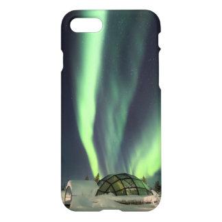 Coque iPhone 7 Lumières du nord au-dessus de la Finlande