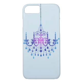 Coque iPhone 7 Lustre accrochant de gradient bleu de couleur