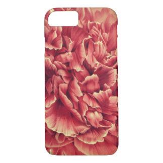 Coque iPhone 7 Macro cas floral de téléphone d'art de pivoine