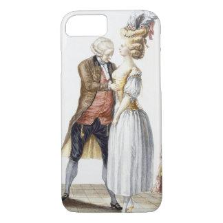 Coque iPhone 7 Madame élégante à un montage avec son tailleur,