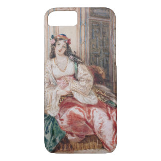 Coque iPhone 7 Madame Seated dans un tabouret Turki de port