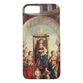 Coque iPhone 7 Madonna et enfant avec des saints