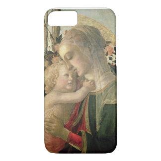 Coque iPhone 7 Madonna et enfant avec St John le baptiste, detai
