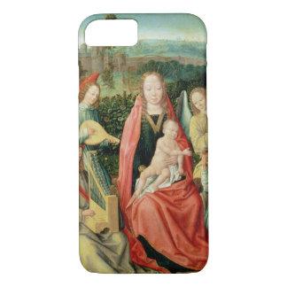 Coque iPhone 7 Madonna et enfant entourés par des anges