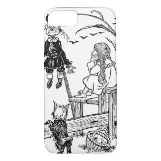 Coque iPhone 7 Magicien d'Oz vintage, épouvantail de