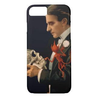 Coque iPhone 7 Magicien vintage, Thurston tenant un crâne humain