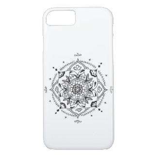 Coque iPhone 7 Mandala noir et blanc