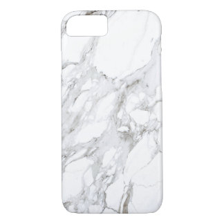 Coque iPhone 7 Marbre blanc Luxe
