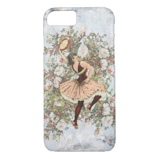 Coque iPhone 7 Mélange floral gitan et match de danse vintage