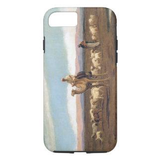 Coque iPhone 7 Menant le troupeau pâturer (huile sur la toile)