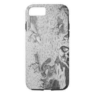 Coque iPhone 7 Méthode indienne de pêche à la baleine, d'un