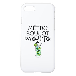 "Coque iPhone 7 ""Métro Boulot Mojito"""