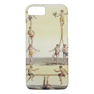 Coque iPhone 7 Mexicains exécutant la gymnastique (litho de