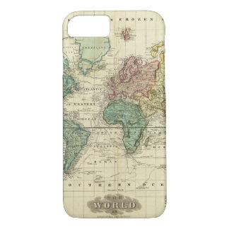 Coque iPhone 7 Monde sur la projection de Mercators