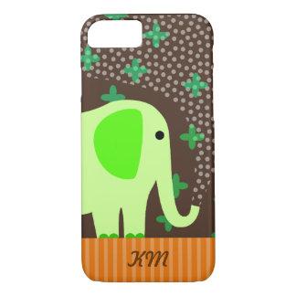 Coque iPhone 7 Monogramme avec l'éléphant