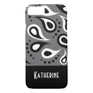 Coque iPhone 7 Monogramme chic moderne de coutume de motif de