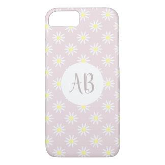 Coque iPhone 7 Monogramme mignon lunatique de fleur de la
