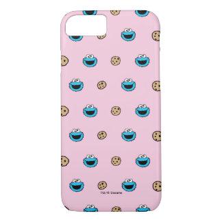 Coque iPhone 7 Monstre de biscuit et motif de rose de biscuits