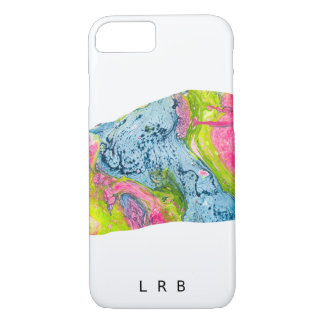 Coque iPhone 7 Montagne moderne d'aquarelle d'abrégé sur