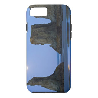 Coque iPhone 7 Moonset, plage de Bandon, Orégon