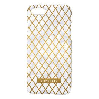Coque iPhone 7 Motif à la mode de diamants d'or