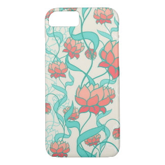 Coque iPhone 7 Motif abstrait de Lotus