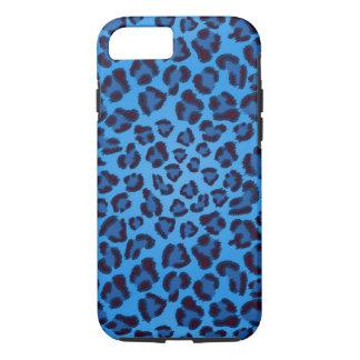 Coque iPhone 7 motif bleu de texture de léopard
