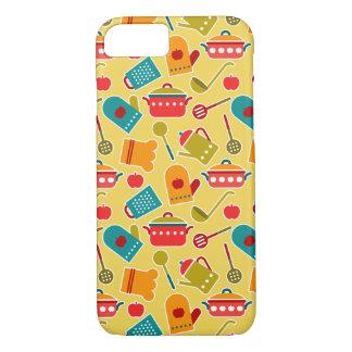 Coque iPhone 7 Motif coloré des ustensiles de cuisine
