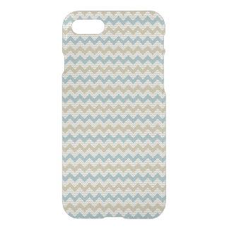 Coque iPhone 7 Motif de Chevron sur la texture de toile
