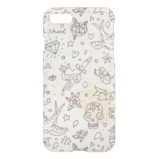 Coque iPhone 7 Motif de concept de tatouage