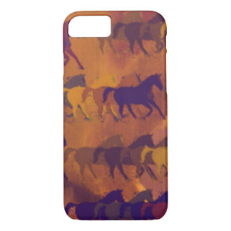 Coque iPhone 7 motif de ferme de chevaux