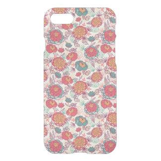 Coque iPhone 7 Motif de fleurs et de feuille de pivoine