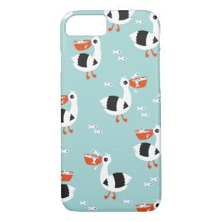 Coque iPhone 7 Motif de garçons d'océan d'oiseaux et de poissons