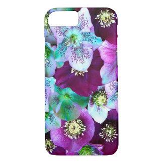 Coque iPhone 7 Motif de Heliborus de fleur de floraison d'hiver,