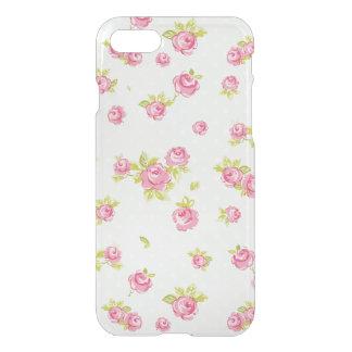 Coque iPhone 7 Motif de papier peint d'élégance des roses roses 4