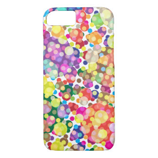Coque iPhone 7 Motif de point coloré de polka