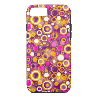 Coque iPhone 7 Motif de point violet de polka