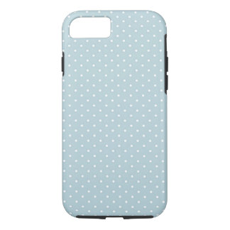 Coque iPhone 7 Motif de pois blanc bleu Girly mignon à la mode