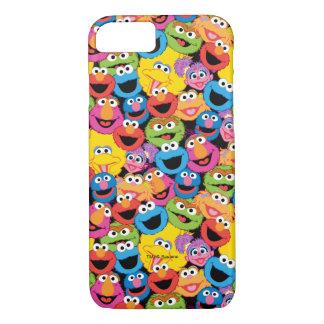 Coque iPhone 7 Motif de visages de caractère de Sesame Street