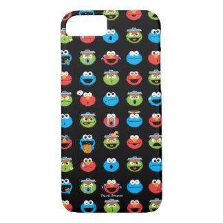 Coque iPhone 7 Motif d'Emoji de copains de Sesame Street