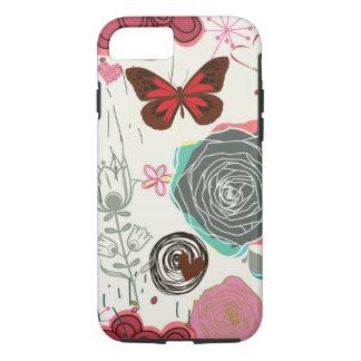 Coque iPhone 7 Motif floral dans le rétro style 5