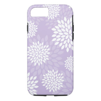 Coque iPhone 7 Motif floral de chrysanthèmes pourpres
