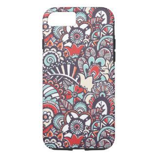 Coque iPhone 7 Motif floral de griffonnage de Paisley