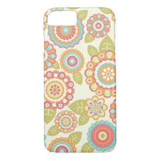 Coque iPhone 7 Motif floral de rétros fleurs géniales de Boho
