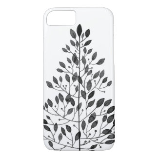 Coque iPhone 7 motif floral noir sensible
