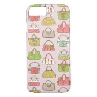 Coque iPhone 7 Motif mignon et coloré d'illustration de sacs